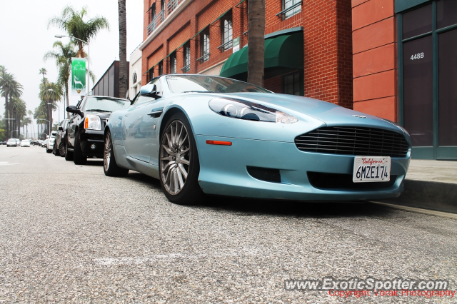 Aston Martin DB9 spotted in Beverly Hills, California