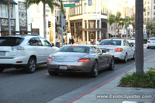 mercedes sls amg spotted in beverly hills, california on 01/21/2013