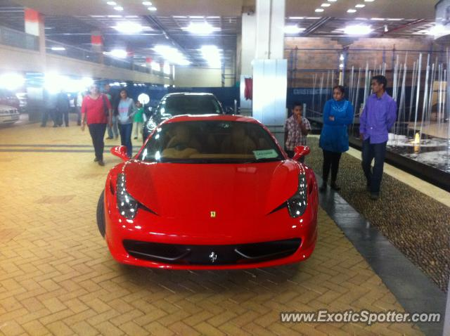 Ferrari 458 Italia spotted in Umhlanga, South Africa