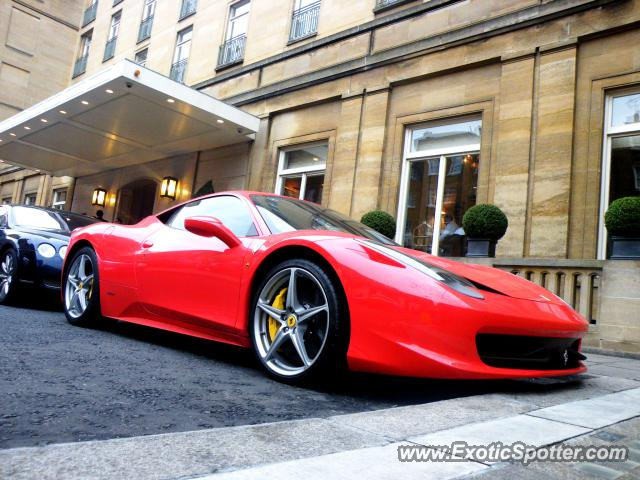 Ferrari 458 Italia spotted in London, United Kingdom