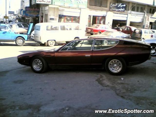Lamborghini Espada spotted in Amman jordan, United Arab Emirates