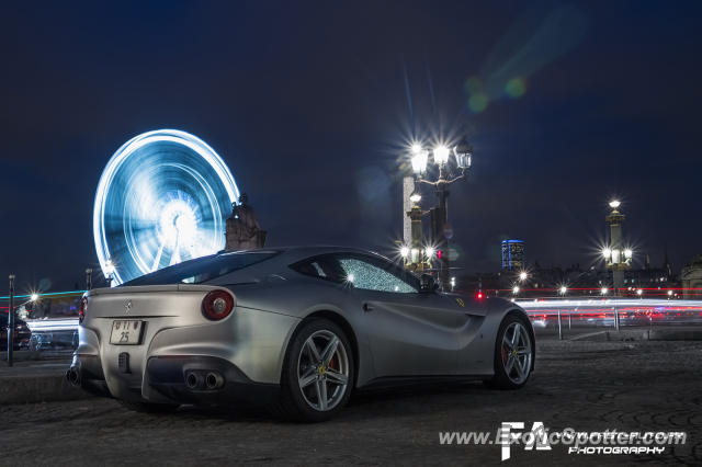 Ferrari F12 spotted in Paris, France