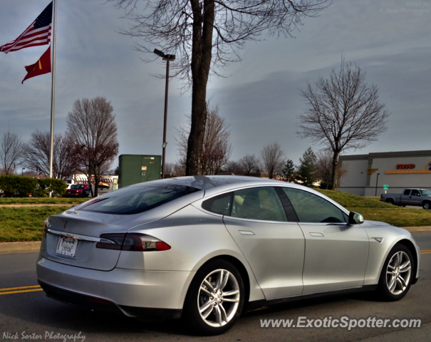 Gray Tesla Model s Tesla Model s Spotted in