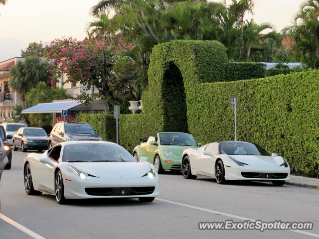 Ferrari 458 Italia spotted in Palm Beach, Florida