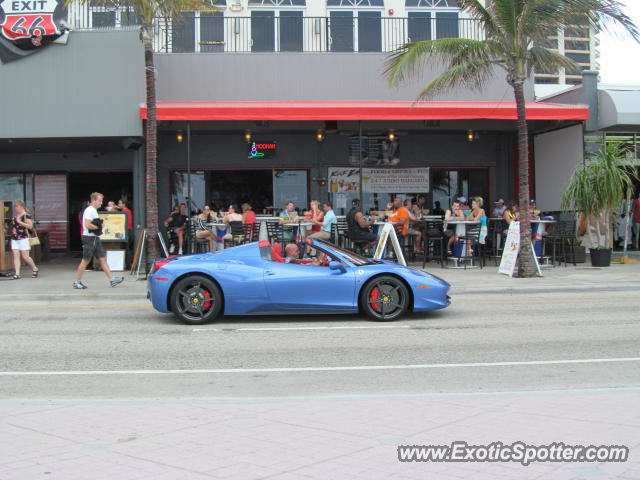 Ferrari 458 Italia spotted in Ft. Lauderdale, Florida